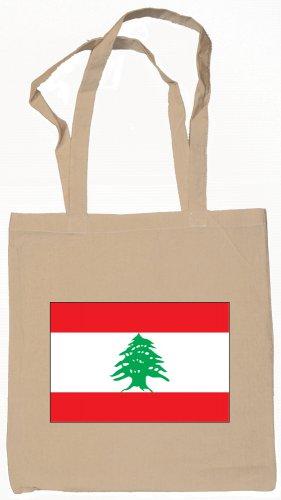 Lebanon Lebanese   Flag Souvenir Canvas Tote Bag Shopping School Sports Grocery Eco