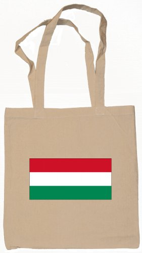 Hungary Hungarian Flag Souvenir Canvas Tote Bag Shopping School Sports Grocery Eco