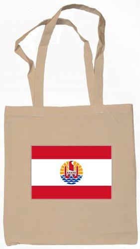 French Polynesia Polynesian Flag Souvenir Canvas Tote Bag Shopping School Sports Grocery Eco