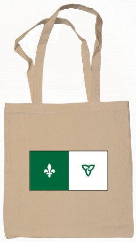 Franco-Ontarian Flag Souvenir Canvas Tote Bag Shopping School Sports Grocery Eco