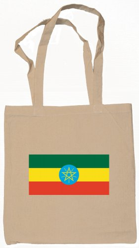 Ethiopia Ethiopian Flag Souvenir Canvas Tote Bag Shopping School Sports Grocery Eco