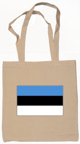 Estonia Estonian Flag Souvenir Canvas Tote Bag Shopping School Sports Grocery Eco
