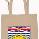 British Columbia Flag Souvenir Canvas Tote Bag Shopping School Sports Grocery Eco