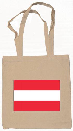 Austria Austrian Flag Souvenir Canvas Tote Bag Shopping School Sports Grocery Eco