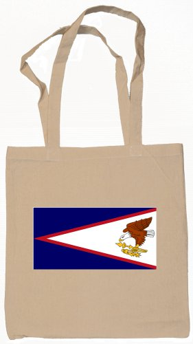 American Samoa Samoan Flag Souvenir Canvas Tote Bag Shopping School Sports Grocery Eco