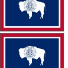 2 Wyoming State Flag Stickers Decals Sticks to Almost Anything