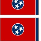2 Tennessee State Flag Stickers Decals Sticks to Almost Anything