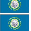 2 South Dakota State Flag Stickers Decals Sticks to Almost Anything