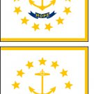 2 Rhode Island State Flag Stickers Decals Sticks to Almost Anything