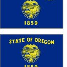 2 Oregon State Flag Stickers Decals Sticks to Almost Anything