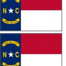 2 North Carolina State Flag Stickers Decals Sticks to Almost Anything