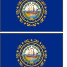 2 New Hampshire State Flag Stickers Decals Sticks to Almost Anything