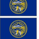 2 Nebraska State Flag Stickers Decals Sticks to Almost Anything
