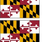 2 Maryland State Flag Stickers Decals Sticks to Almost Anything