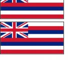 2 Hawaii State Flag Stickers Decals Sticks to Almost Anything