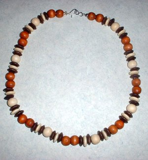 Wood Bead Choker Necklace