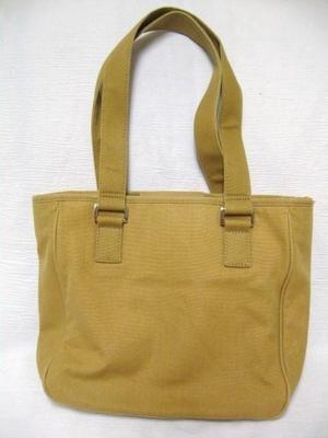 Khaki Canvas FOSSIL Messenger Shoulder Purse Bag Tote