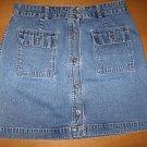 GAP Button Front Denim Jean Skirt Size 8