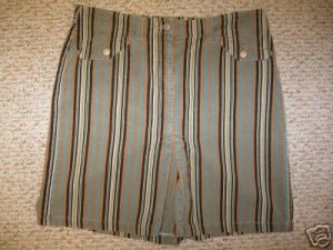 Womens ANN TAYLOR LOFT Striped Corduroy Skirt Size 10
