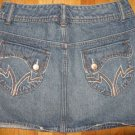 "Womens Juniors SO ""SO"" Embroidered Mini Jean Skirt 1"