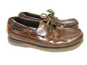Mens Leather SPERRY TOP-SIDER Boat Loafers Shoes 8 M