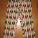 Striped CACHE Cropped Capri Pants 6 EUC!