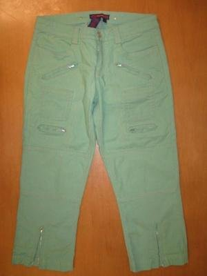 Cute BCBG MAXAZRIA Green Zip Capri Jeans 4 Adorable!