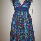 NEW NWT DEREK HEART Floral Empire Waist Dress Medium M