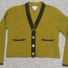 MODA INTL Ribbon Trimmed Cardigan Sweater Size Small S