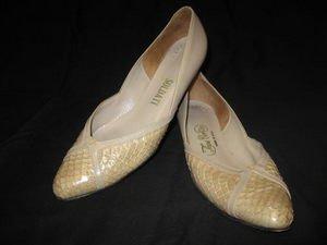 Vintage SnakeskinTHOS CORT LTD 70sLeather Flats Shoes 8