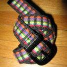 "Womens Juniors Fabric Hippie RAINBOW Belt 26""-29"" Waist"