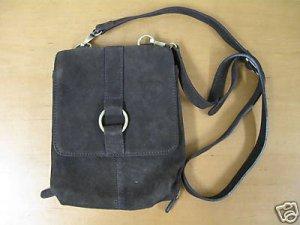NEW Brown Suede COLDWATER CREEK Purse Handbag Wallet