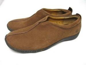Womens BORN Brown Suede Slip On Loafers Shoes 8 EUC!