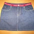 Womens Junior TOMMY HILFIGER Classic Denim Jean Skirt 1