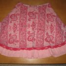 Adorable LIMITED TOO Pink Paisley Lacey Skirt 12 1/2