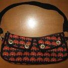 GAP Black Red POPPY Purse Handbag Tote Bag EUC