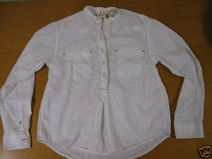 """Women GAP """"Red"""" Africa Relief White Blouse Top Shirt XS"""