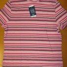 NWT $24 Pink Striped LANDS END Turtleneck T Shirt Top S