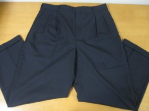 MENS 100% WOOL LANDS END DRESS PANTS SIZE 34 PERFECT!!!