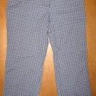 Blue Plaid ANN TAYLOR LOFT Capri Pants Sz 6 P Petite