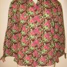NWT Womens Floral Button Up FIELDGEAR Shirt Top Small