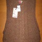 NWT NEW $98 BUFFALO DAVID BITTON Knit Vest Shirt Top L