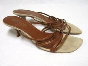 Brown Leather KENNETH COLE Strappy Sandals Shoes 8 M