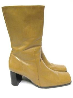 Gorgeous Caramel Leather NINE WEST Calf Boots 8 1/2 M