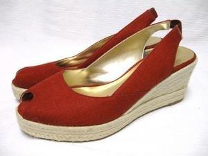 Straw Wedge JESSICA SIMPSON Peep Toe Sandals 8 B LK NW!