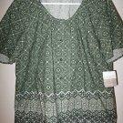 NEW NWT LIZ CLAIBORNE $59 Floral Blouse Shirt Top Sz 16
