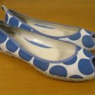 Girls NORDSTROM Peep Toe Polka-Dot Flats Shoes 3 M