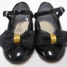 Black STRIDE RITE Bow Mary Jane Shoes 5 1/2 W EUC