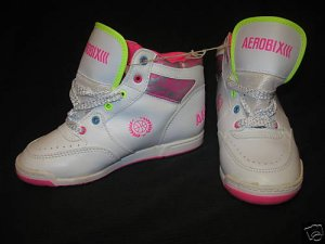 NEW Vintage 80's AEROBIX Hi-Top Girls Sneakers Shoes 1