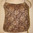 EXPRESS Lace Gold Black Bubble Cami Shirt Top S Pretty!